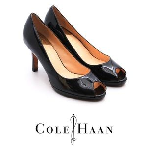 Cole Haan Patent Leather Peep-toe Pump